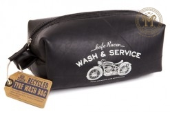 Cafe Racer Recycled Tyre Wash Bag
