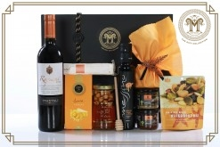 Gourmet Greek Black & Orange Sweet Honey Gift Hamper