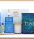 MAZI IN MYKONOS GREEK COOKBOOK & CANDLE HAMPER