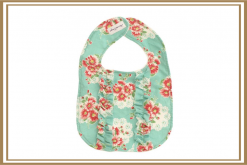 ALIMROSE DOUBLE ROUGH BIB TURQUOISE FLORAL