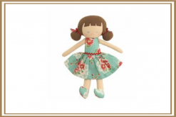 ALIMROSE AUDREY DOLL TURQUOISE FLORAL