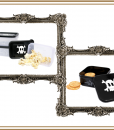 METALLIC COWBOY FOOD CONTAINERS