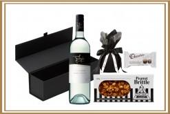 Black White Pinot Stripe Gift Hamper