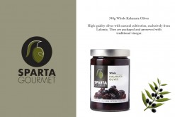 SPARTA GOURMET 340G WHOLE OLIVES