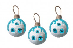 GREEK CHURCH 5.5CM BAUBLES
