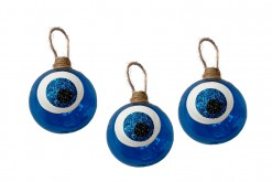 NAVY BLUE EVIL EYE BAUBLES