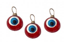RED EVIL EYE BAUBLES 5CM